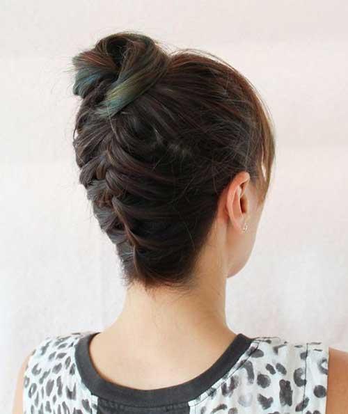 Short Hair Top Knot-12