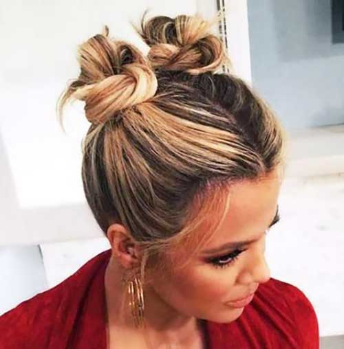 Short Hair Top Knot-14
