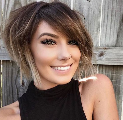 Short Layered Hairstyles for Thick Hair-14