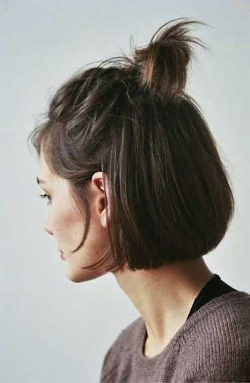 Short Hair Top Knot-16