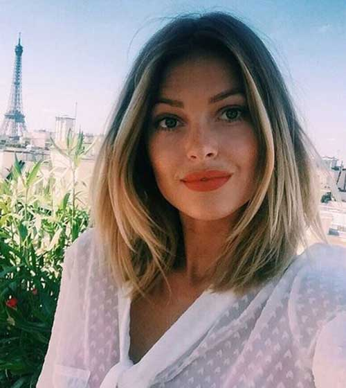 Short to Medium Haircuts for Fine Hair-18