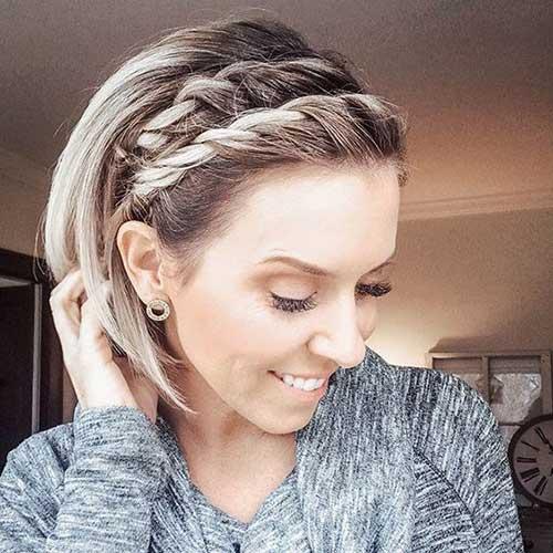 Headband Braid for Short Hair-19