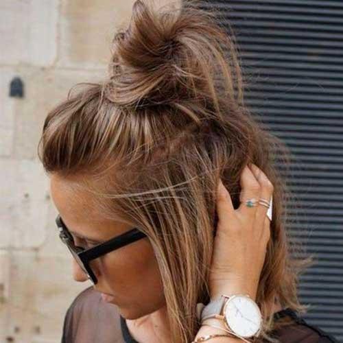 Short Hair Top Knot-19
