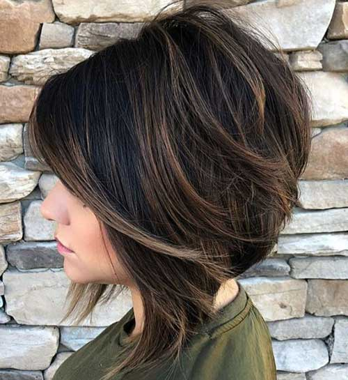 Short Layered Hairstyles for Thick Hair-20