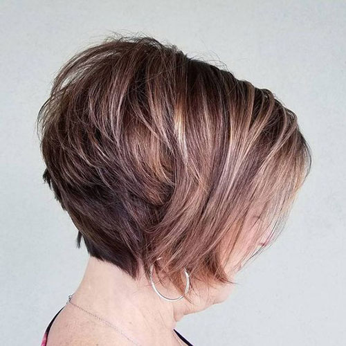 Short Layered Hairstyles for Thick Hair-9