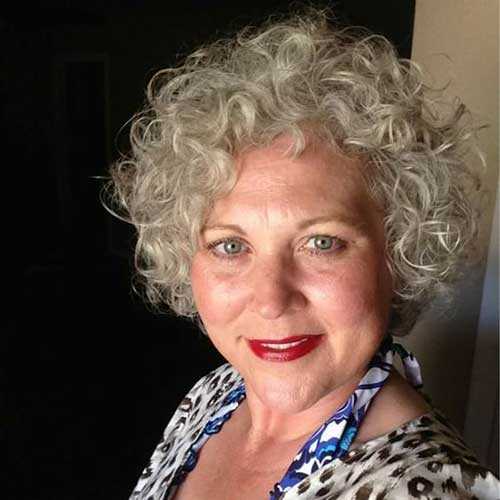 Perfect 20 Short Curly Hairstyles For Older Women Short Hairdo