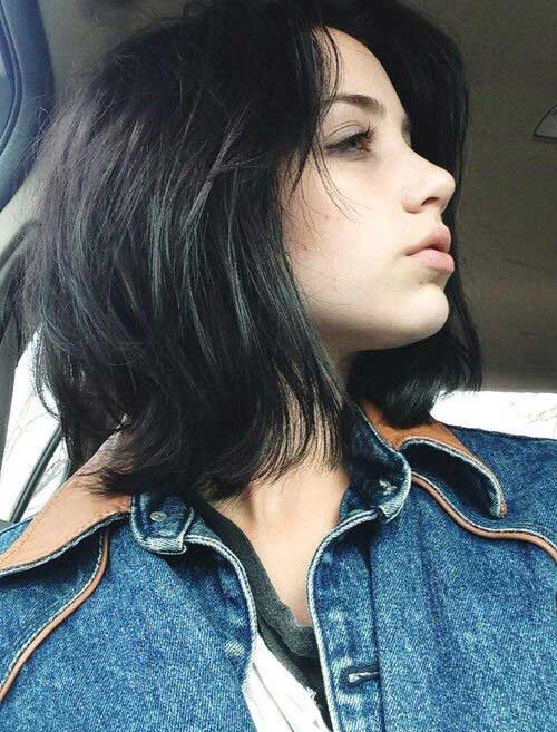 Short Thick Hair with Layers