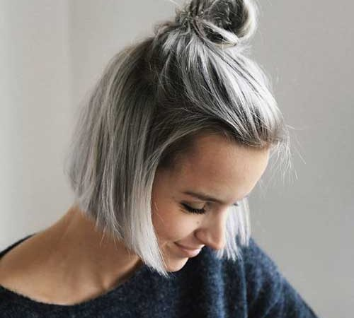 20 Simple Top Knot Bun Short Hair