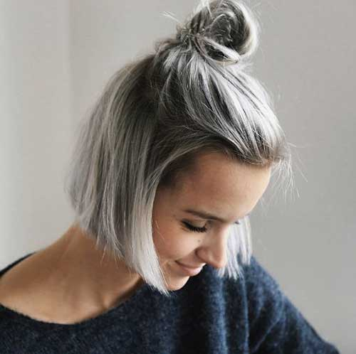 20 Simple Top Knot Bun Short Hair Short Hairdo