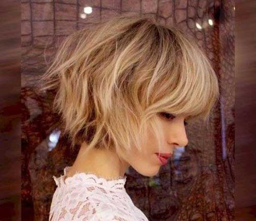 Cute Fall Hairstyles for Short Hair-10