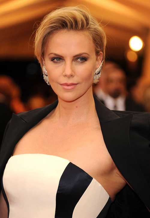 Charlize Theron Short Hairstyles-11