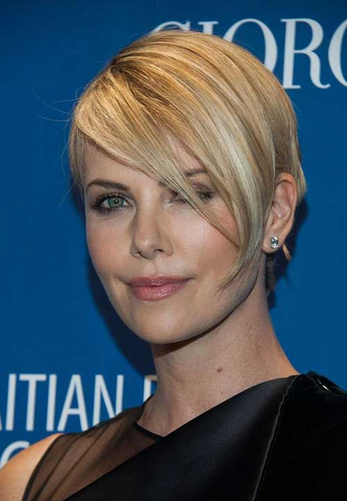 Charlize Theron Short Hairstyles-13