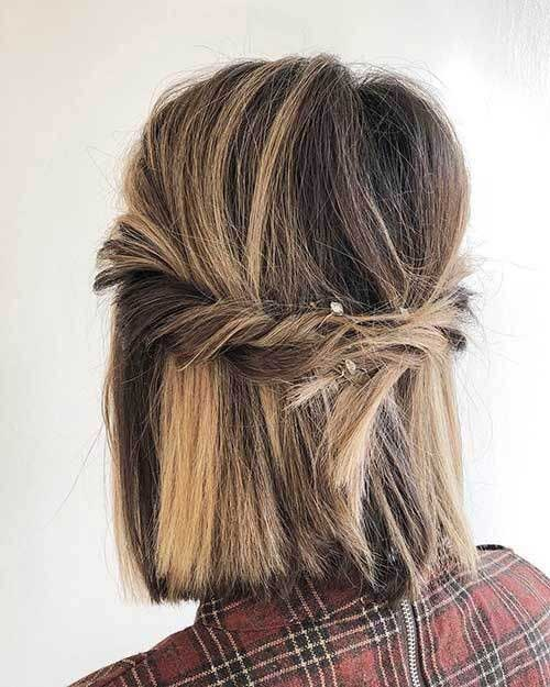 Cute Fall Hairstyles for Short Hair-14