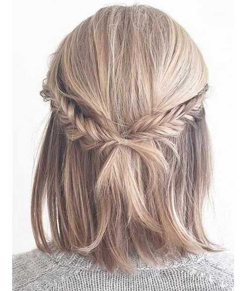 Cute Fall Hairstyles for Short Hair-16