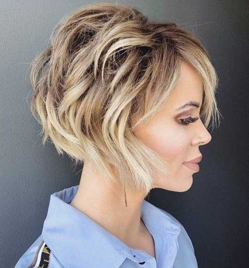 Cute Fall Hairstyles for Short Hair-7