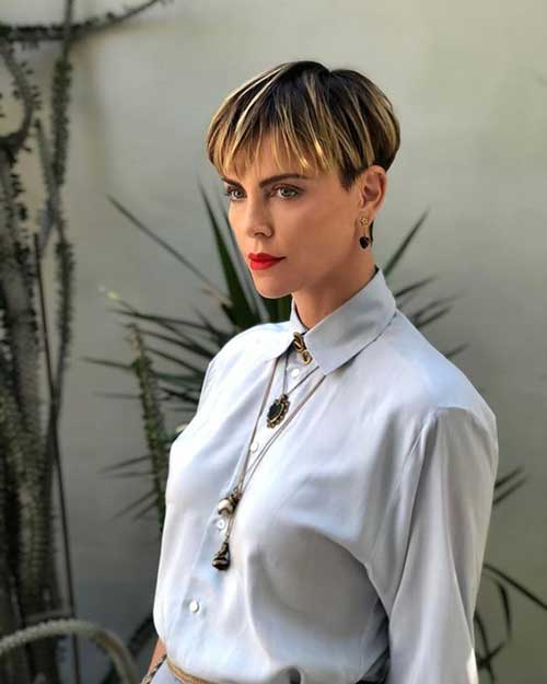 Charlize Theron Short Hairstyles-9