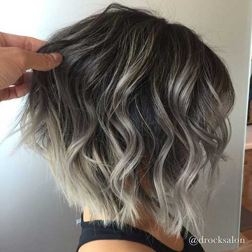Short Bob with Blonde Highlights