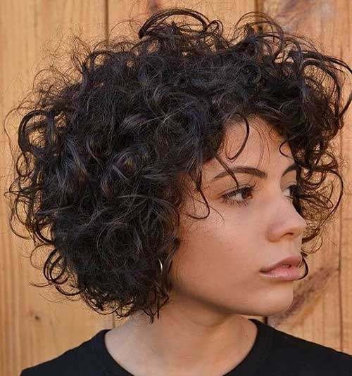Short Natural Messy Curly Hairstyles-10