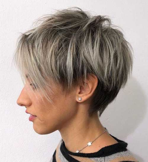 Ash Blonde Pixie Haircuts for Women-14