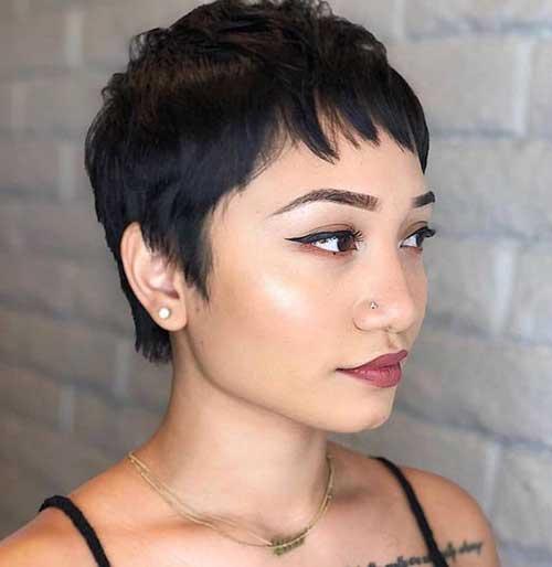 Dark Brown Pixie Haircuts for Women-17