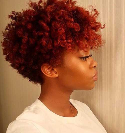 Short Natural Curly Dark Red Hairstyles-18