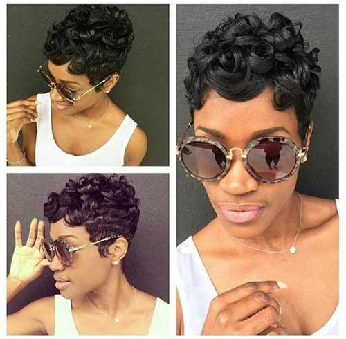 Modern Short Natural Curly Hairstyles-6