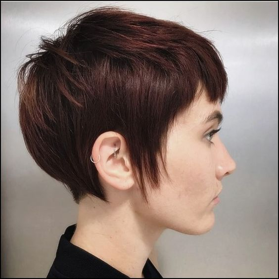 Dark Red Pixie Haircuts for Women-9