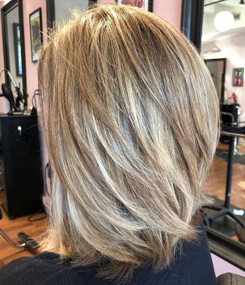 Short Medium Layered Lob Haircuts-11